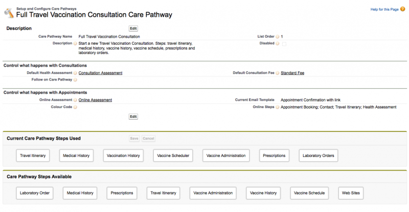 Care Pathway Settings