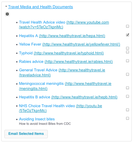 Travel Media and Health Documents
