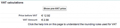 Showing the pre-VAT price.